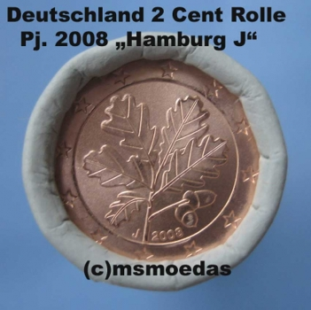 msmoedas deutschland 2 cent rolle 2008 j hamburg. Black Bedroom Furniture Sets. Home Design Ideas