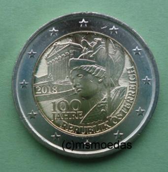Msmoedas österreich 2 Euro Gedenkmünze Euromünze 2018 Republik
