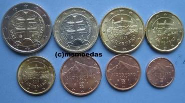 Msmoedas Slowakei Kursmünzensatz Euromünzen 1 Cent 2 Euro 2018