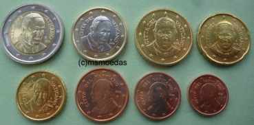 Msmoedas Vatikan Euro Münzen Kms 1 Cent Bis 2 Euro Jahr 2015