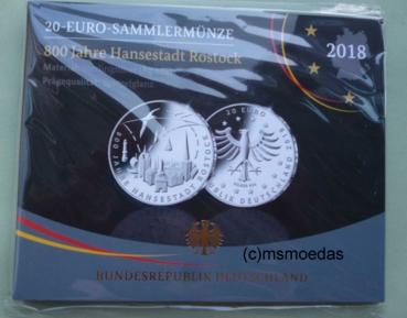 Msmoedas Deutschland 20 Euro Sondermünze Silbermünze Euromünze