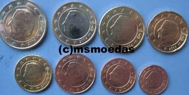 Msmoedas Belgien Euromünzen 1 Cent Bis 2euro Bankfrisch 2005