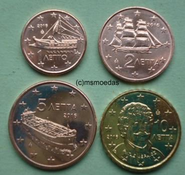 Msmoedas Griechenland 1 Cent 2 Cent 5 Cent 10 Cent Euromünzen