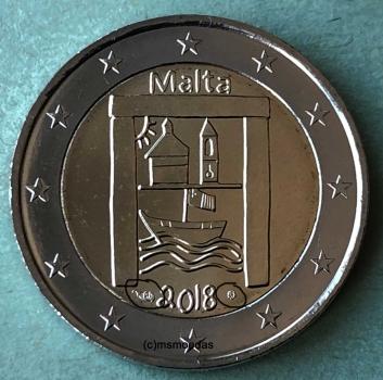 Malta 2 Euro Gedenkmünze 2018 Kulturelles Erbe Münzzeichen