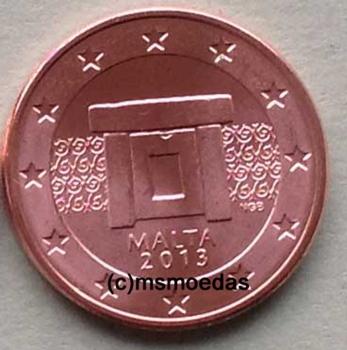 Msmoedas Malta 5 Cent Jahr 2013