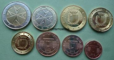 Malta Euro Kms 2016 1 Cent Bis 2 Euro