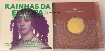 Portugal 5 Euro Goldmünze 2016 Queens of Europe – Catarina de Bragança