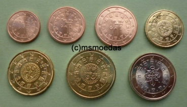 Msmoedas Portugal Euromünzen 2016 1 Cent 2 Cent 5 Cent 20