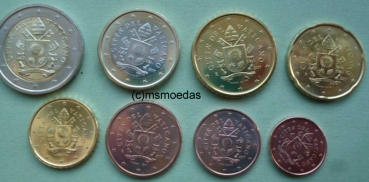 Msmoedas Vatikan Euro Münzen Kms 1 Cent Bis 2 Euro Jahr 2018