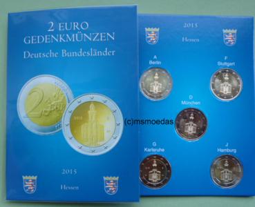 Msmoedas Deutschland Brd 5 X 2 Euro 2 Euro Gedenkmünzen