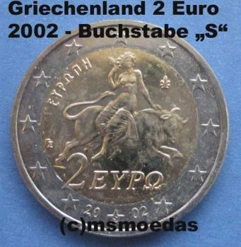 Msmoedas Griechenland 2 Euro Kursmünze 2002 Fremdprägung S
