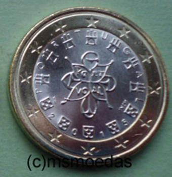 Msmoedas Portugal 1 Euro Euromünze 2015 Bankfrisch Unc