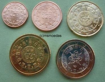 Msmoedas Portugal 5 Euro Münzen 1 Cent 2 Cent 20 Cent 50 Cent