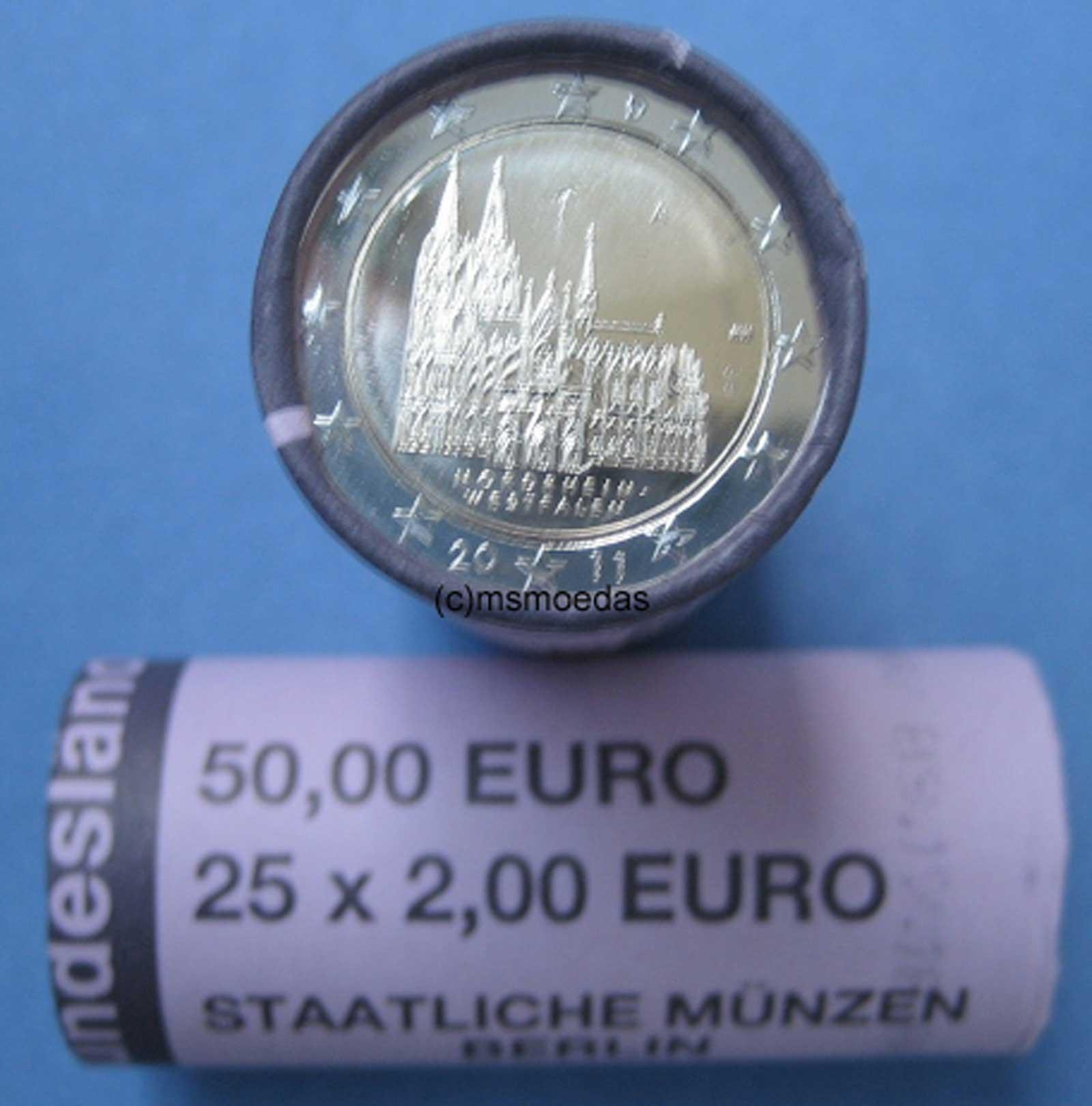 msmoedas deutschland 2 euro rolle 2 x 2 euro gedenkm nzen sonderm nzen pr gejahr 2011. Black Bedroom Furniture Sets. Home Design Ideas
