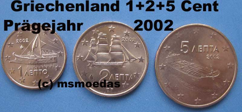 msmoedas griechenland 1 2 5 euro cent pr gejahr 2002. Black Bedroom Furniture Sets. Home Design Ideas